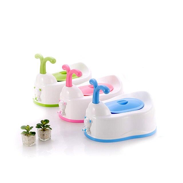 Cartoon Animal Shaped Baby's Potties Kids' Training Urinal Toilet Drawer Style Safety Children's Potties With Handle Anti-slip
