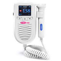 Cofoe 100AS Portable Sonar Fetal Doppler Detector Pregnant Fetal Heart Monitor With 3Mhz Medical Ultrasound Probe