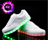 New Light Foreign Trade Shoes Spring Summer 2016 USB Charging Low Luminous LED Screen Cloth Wholesale