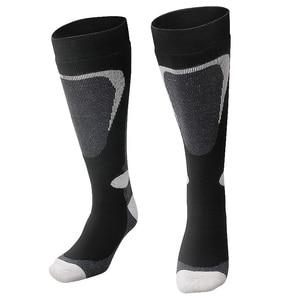 Image 4 - COPOZZ Ski Socks Thick Cotton Sports Snowboard Cycling Skiing Soccer Socks Men & Women Moisture Absorption High Elastic Socks