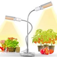Новейший 50 Вт Светодиодный светильник для выращивания растений, супер яркий 100 светодиодный солнечный полноспектральный светильник для выращивания растений, Настольный светильник для растений
