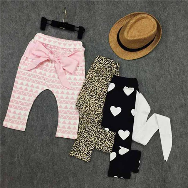 Baby Boygirls Pants Cartoon Print Knitted Busha Pp Pants Elastic