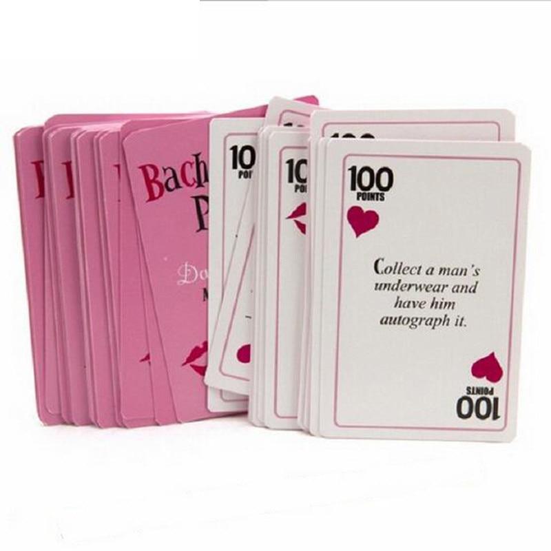 52 pçs/set cartas de despedida de solteira ou coragem, festa de despedida de solteira, casamento, presentes para decoração de festa de despedida de solteiros, b