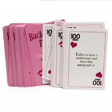 52pcs/set Bachelorette Party Truth or Dare Game Cards Hen Night Bride To Be Party Supplies Bachelorette Party Decoration Gift,B