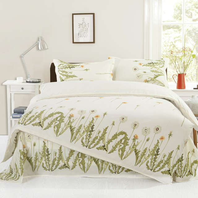 100%Polyester Cheap Price Bed Sheet Set Yellow Floral Twin/Full/Queen Size