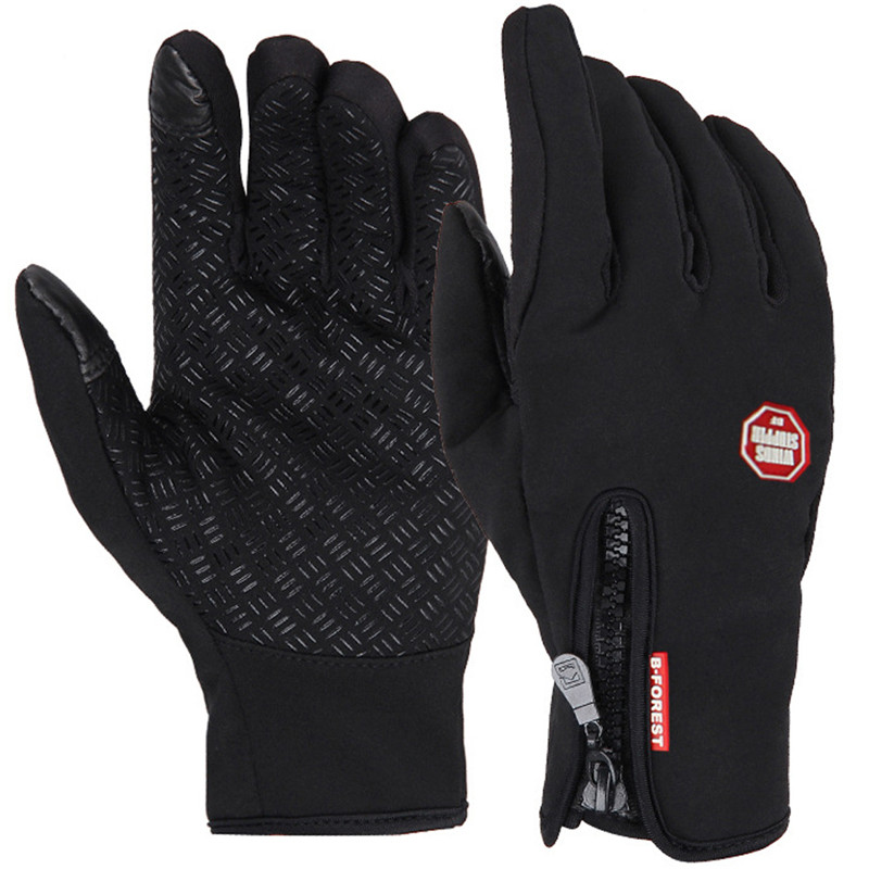 Mănuși de Ciclism cu Curățare Îndepărtătoare pentru Femei Bărbați de Iarnă Windproof Touch Screen Glove Simulat Biciclete Mânere Biciclete Windstopper