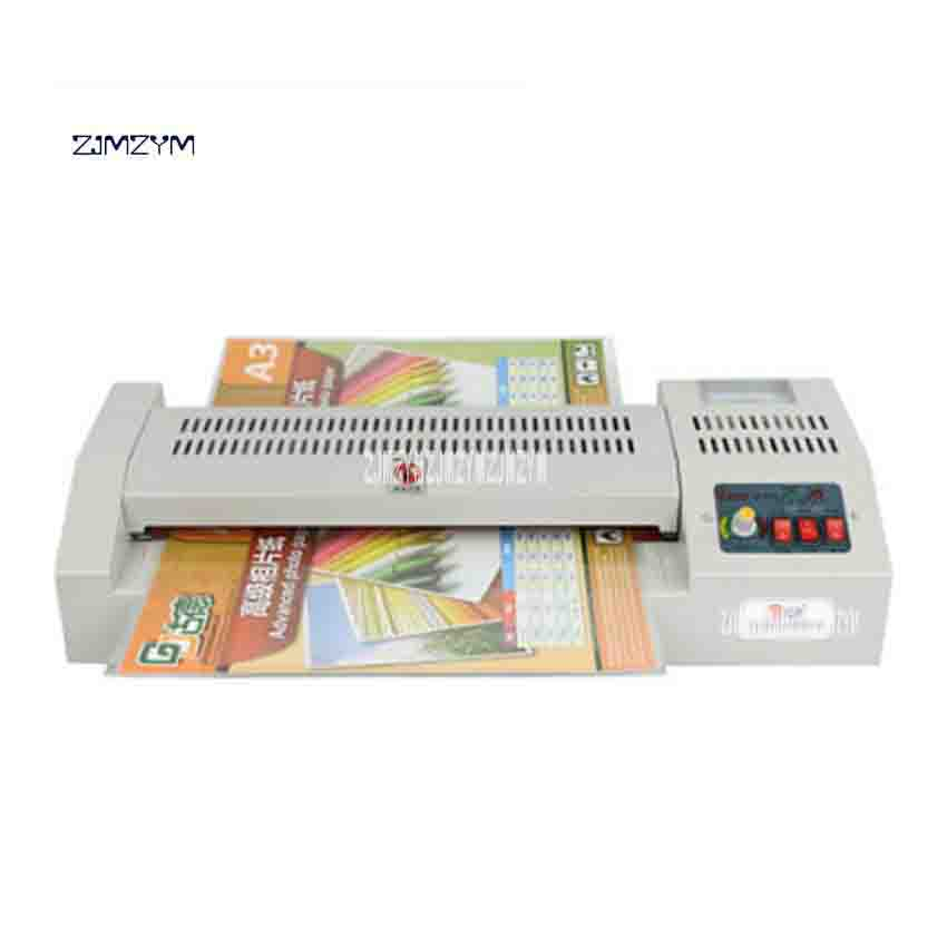 320A Level Adjustable Temperature Metal Laminator Hot and Cold A3 Photo A4 Laminating Machine for Office/Home 4 Rollers 320mm a3 photo laminator office hot