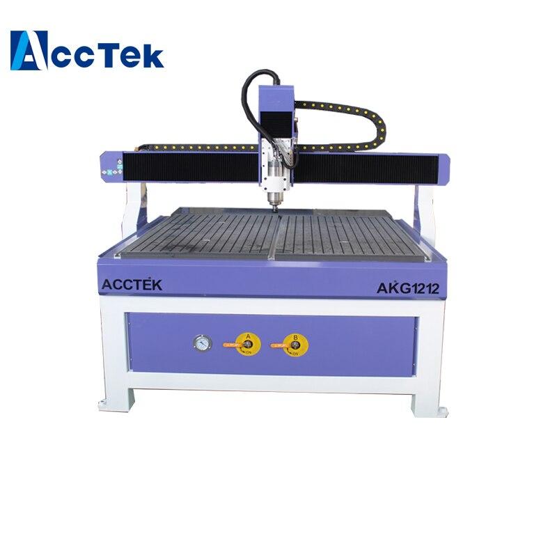 1212 CNC bois fraiseuse mdf machine de découpe prix de Jinan AccTek Mach3 système de contrôle table sous vide