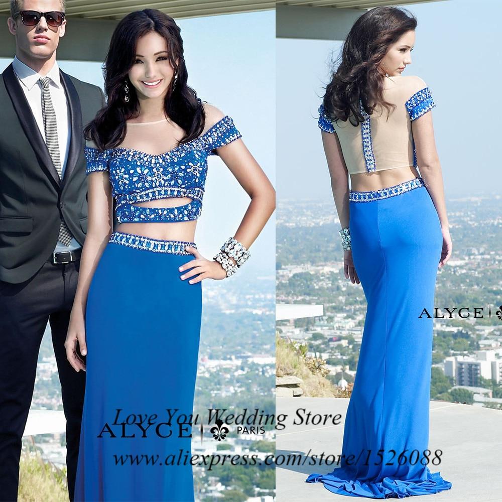 Aliexpress.com : Buy Royal Blue Mermaid 2 Piece Prom Dresses 2015 ...