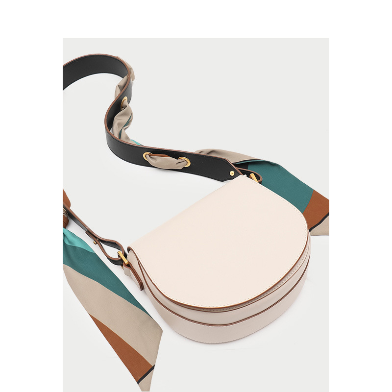 2019 Small Flap Leather Shoulder Bags with Colorful Wide Strap Beige Messenger Crossbody Bags Phone Purse Bag2019 Small Flap Leather Shoulder Bags with Colorful Wide Strap Beige Messenger Crossbody Bags Phone Purse Bag