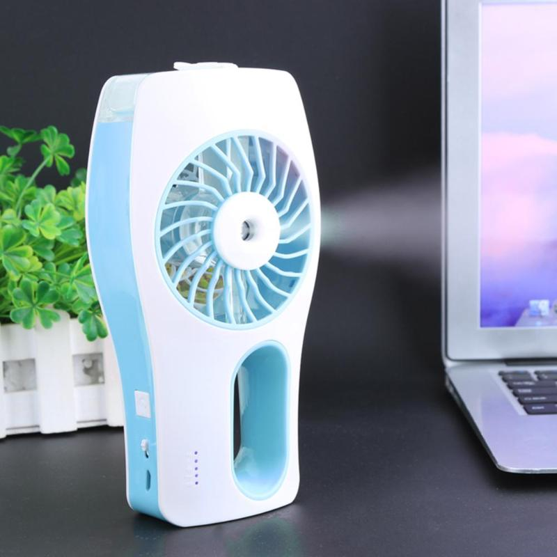 Builtin Rechargeable USB Fan Portable Air Conditione Mini Misting Fan Handheld Personal Cooling Mist Humidifier for Home Office