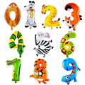 100pcs/lot Animal Number Inflatable Foil Balls Kids Educational Study Number Air Balls Birthday Party Decoration Gift Baby Toys