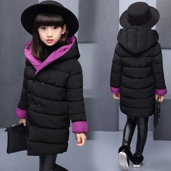 2019 bambini Imbottiture & Parka 4-12 T bambini di inverno della tuta sportiva delle ragazze casual warm giacca con cappuccio per le ragazze solid usura reversibile cappotti caldi