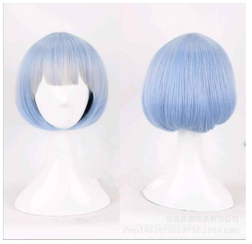 High Temperature Wire different world life from scratch. Rem Rem Ram Maid twin two-color cosplay  hair wig