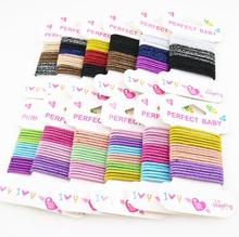 18pcs/set Kids Glittering elastic hair rubber Bands Hair Accessories Candy Colors Elastics For Girls ties scrunchie