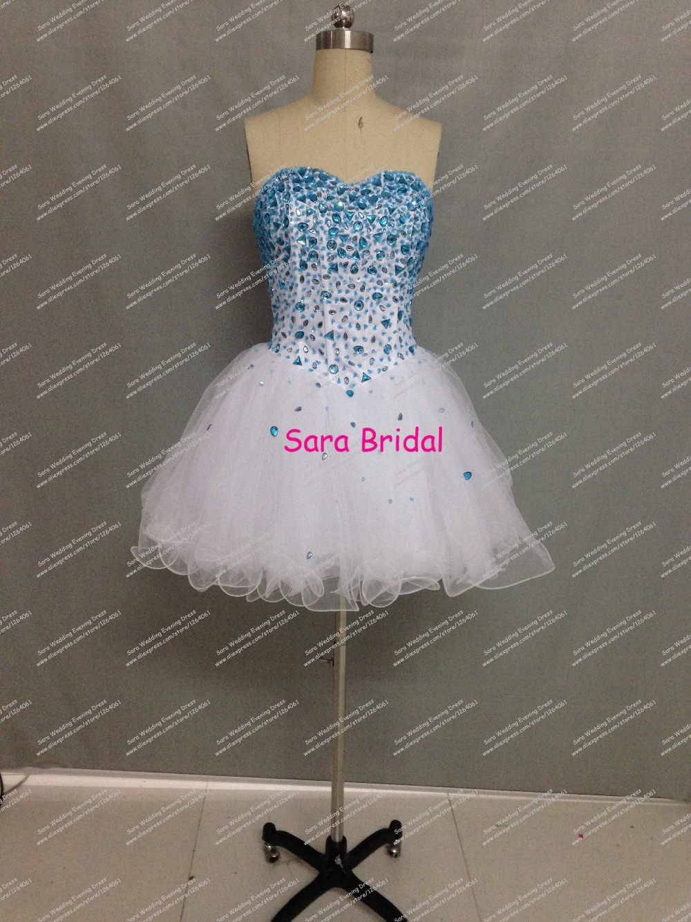 Real Sample Short font b Cocktail b font font b Dress b font A Line Ruffled