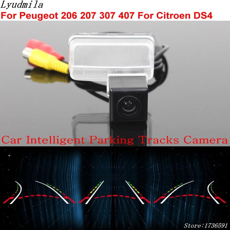 Lyudmila voiture Intelligent Parking pistes caméra pour Peugeot 206 207 307 407 pour citroën DS4 voiture sauvegarde caméra de recul