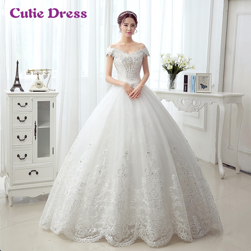 Princess Style Wedding Gowns Sweetheart Off Shoulder Bling Wedding ...