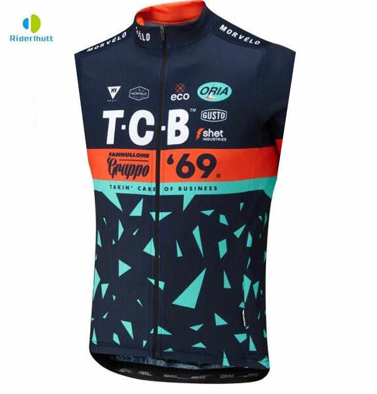 2019 New Team Cycling Vest MTB Sleeveless Bicycle Jacket Bike Clothes Top Shirt