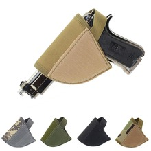 Right Hand Hook Loop Gun Holster Adjustable Tactical Velcro Hook Pistol HolsterFree shipping