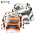 Colorful Striped Bottoming Shirt Baby Boys Clothes, Casual Korean Long Sleeve T-shirt For Children, Autumn Spring Warm Top Tees