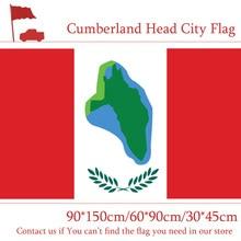 90*150cm 60*90cm Flag 3x5ft Cumberland Head City Flag Custom Polyester 30*45cm Car Flag For Event / Office / Home decoration цена