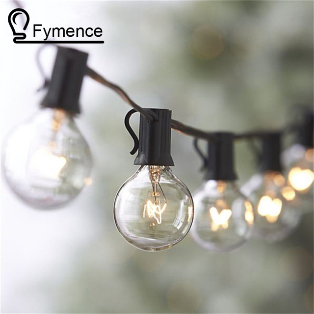 25ft clear globe g40 string light with 25 g40 bulb outdoor decro christmas lightspatio string light