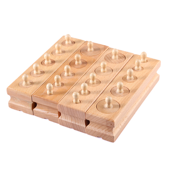 4 Pcs/set Kayu Silinder Soket Blok Anak-anak Mainan Kayu Upgrade Montessori Belajar Awal Pendidikan Mainan untuk Anak