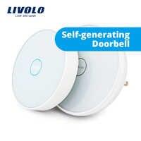 Livolo nouveau smart ding dong sonnette tactile électronique sans fil, sonnette wifi, sonnette sans fil, avec veilleuse