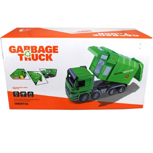 Купить с кэшбэком Large garbage truck sanitation truck children toys kids Gifts Inertia Engineering car trash car model garbage vehicle diecast