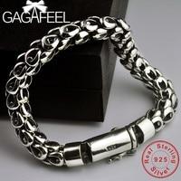 GAGAFEEL S925 Thai Silver Dragon Scale Pin Bracelet Men's Coarse Chain Handmade Vintage Fashion Personality Domineering Bracelet