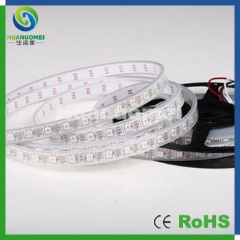 Lecteur IC puce ws2812/2811 pleine bande LED couleur 5050 SMD 60 pixels/m, 300 leds 5 m, IP67