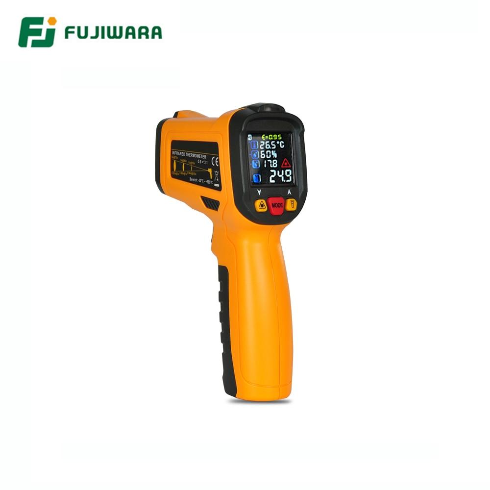 FUJIWARA Infrared Temperature Instrument 50 800 Centigrade Industrial Household Infrared Thermometer Gun Digital Thermometer