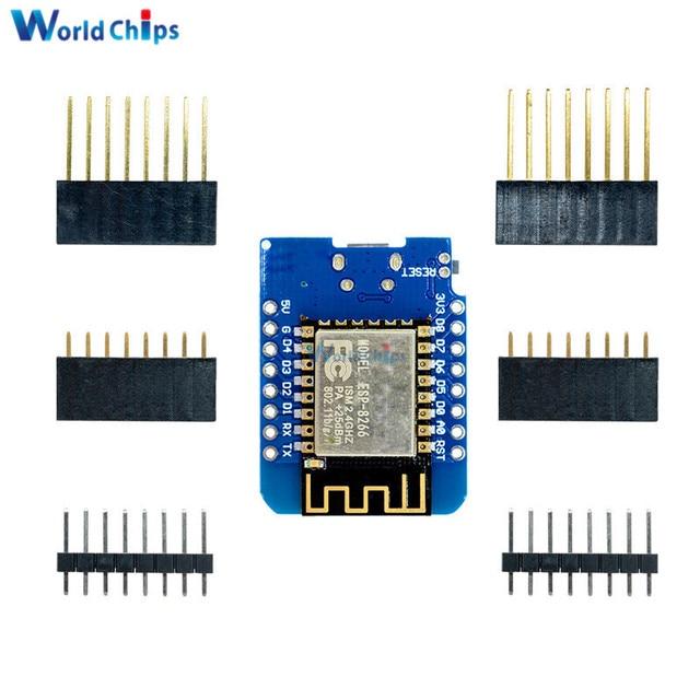 ESP8266 ESP-12 ESP12 ESP-12F Mini Module Wemos D1 Mini WiFi Développement Bord Micro USB 3.3 v Basé Sur ESP-8266EX 11 broche numérique