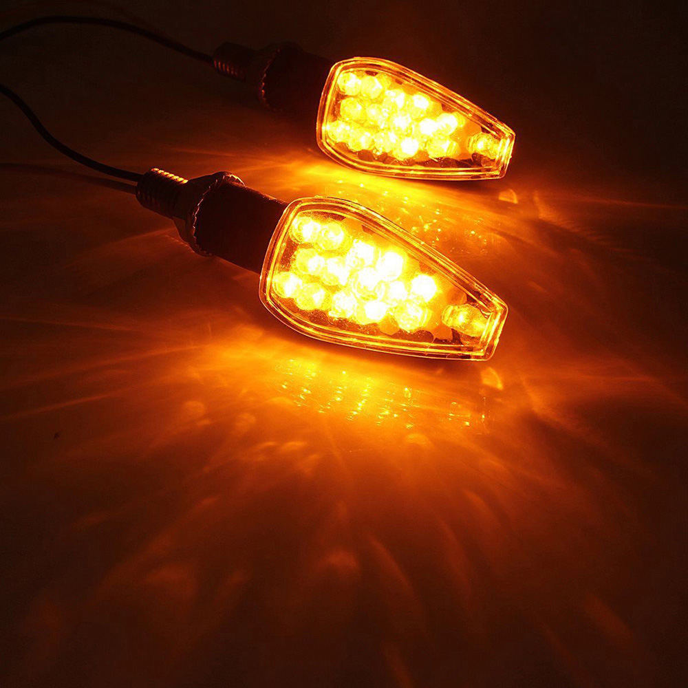Motorcycle 14 LED Turn Signal  Lights Motorbike SmokeLamp Indicators Motorcycle Turn Signal Amber Lamp
