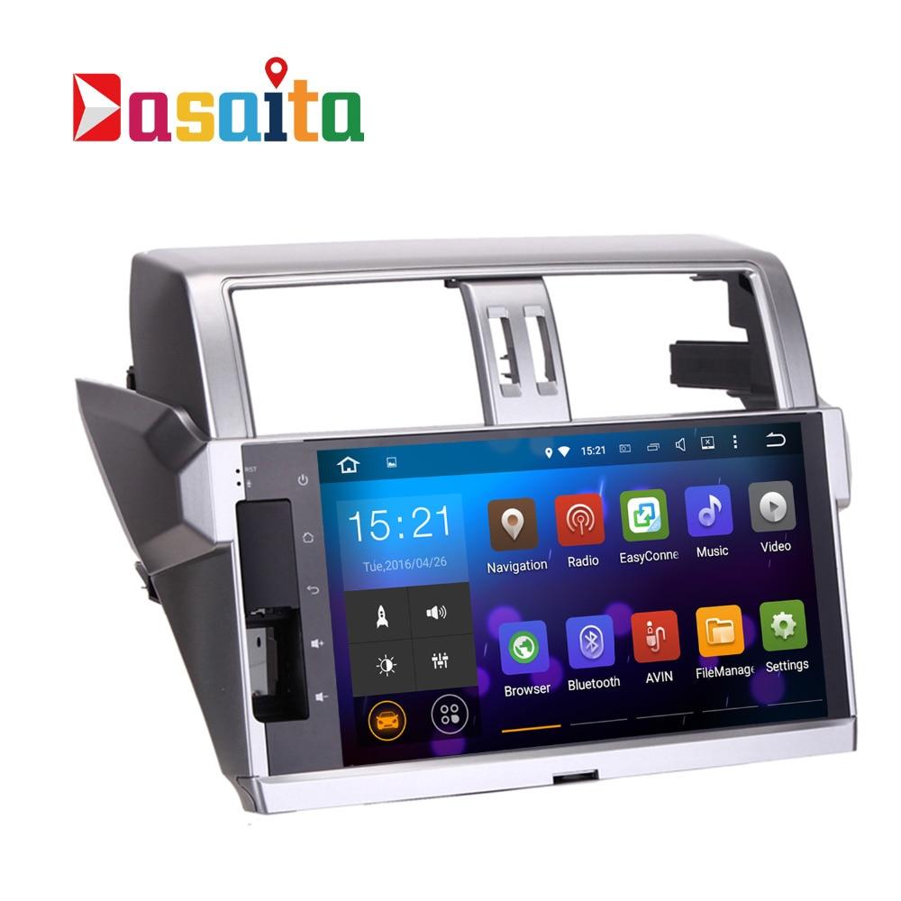 Dasaita 10.2 Android 7.1 Voiture GPS DVD Lecteur pour Toyota nouveau Prado 150 2014 2015 avec 1G + 16G Quad Core Stéréo Multimédia NAVI