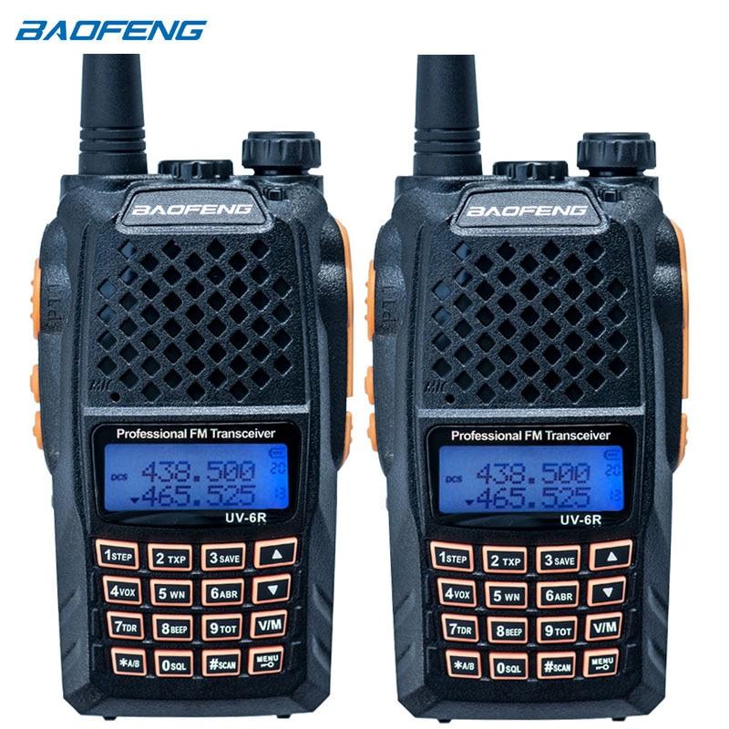 2PCS UV-6R walkie-talkie  Professional CB radio Dual band 128CH LCD display Wireless UV6R portable two way radio2PCS UV-6R walkie-talkie  Professional CB radio Dual band 128CH LCD display Wireless UV6R portable two way radio