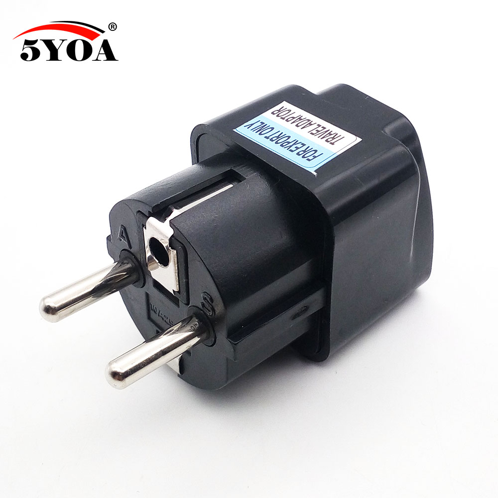 Electric Power Plugs : Eu electrical power plug converter adapter