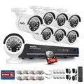 SANNCE CCTV System HD 1080P 8CH DVR 8PCS 720P High Resolution IR-CUT Home Security Camera 8 Channel Video Surveillance Kit 1TB