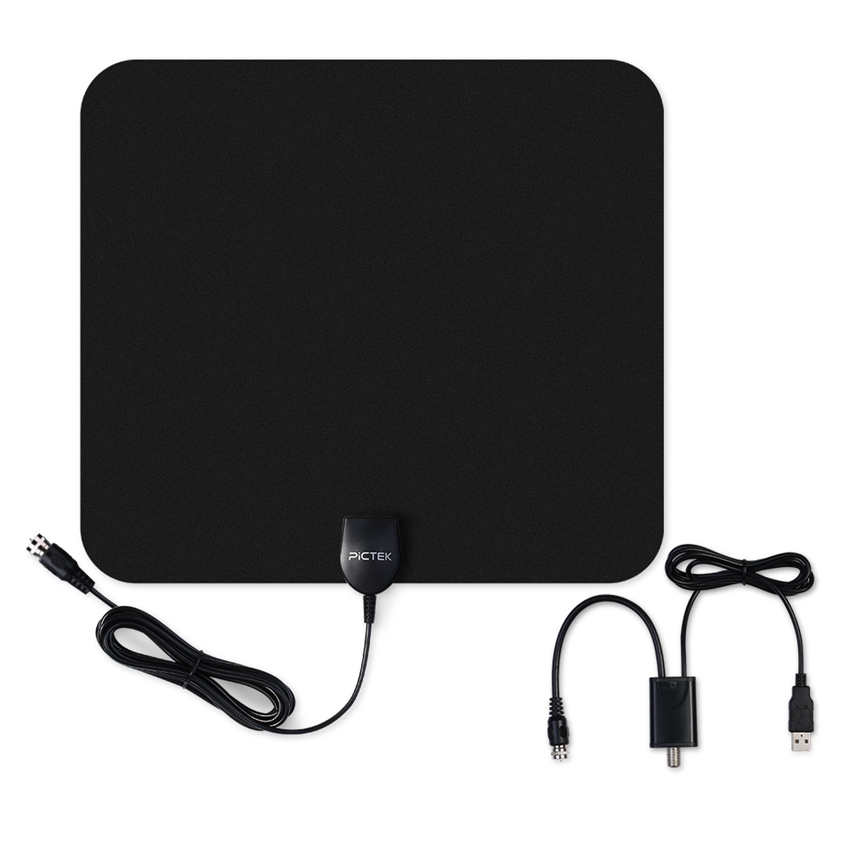 Pictek 25dBi US EU Indoor Digital HDTV TV Antenna with Detachable Amplifier Signal Booster Optimized Butterfly