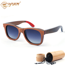 Hot sale cheap promotion sunglasses men/women classic wooden sun glasses high quality handcrafted skateboard wood glasses W3008