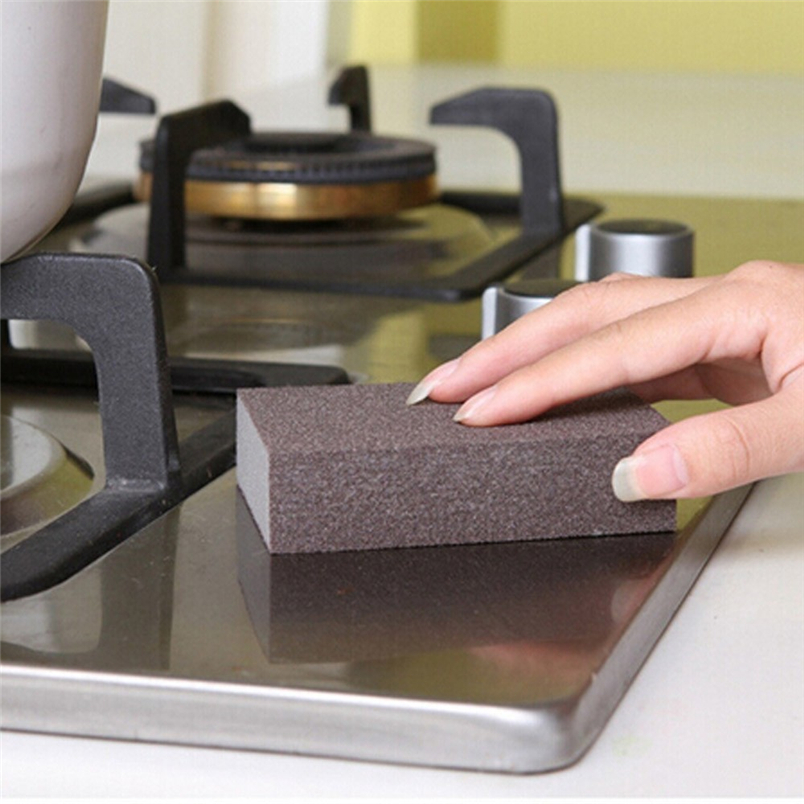 Tenske household cleaning tools 2017 Sponge Carborundum Brush Washing Cleaning Kitchen Cleaner Tool*30 GIFT Drop