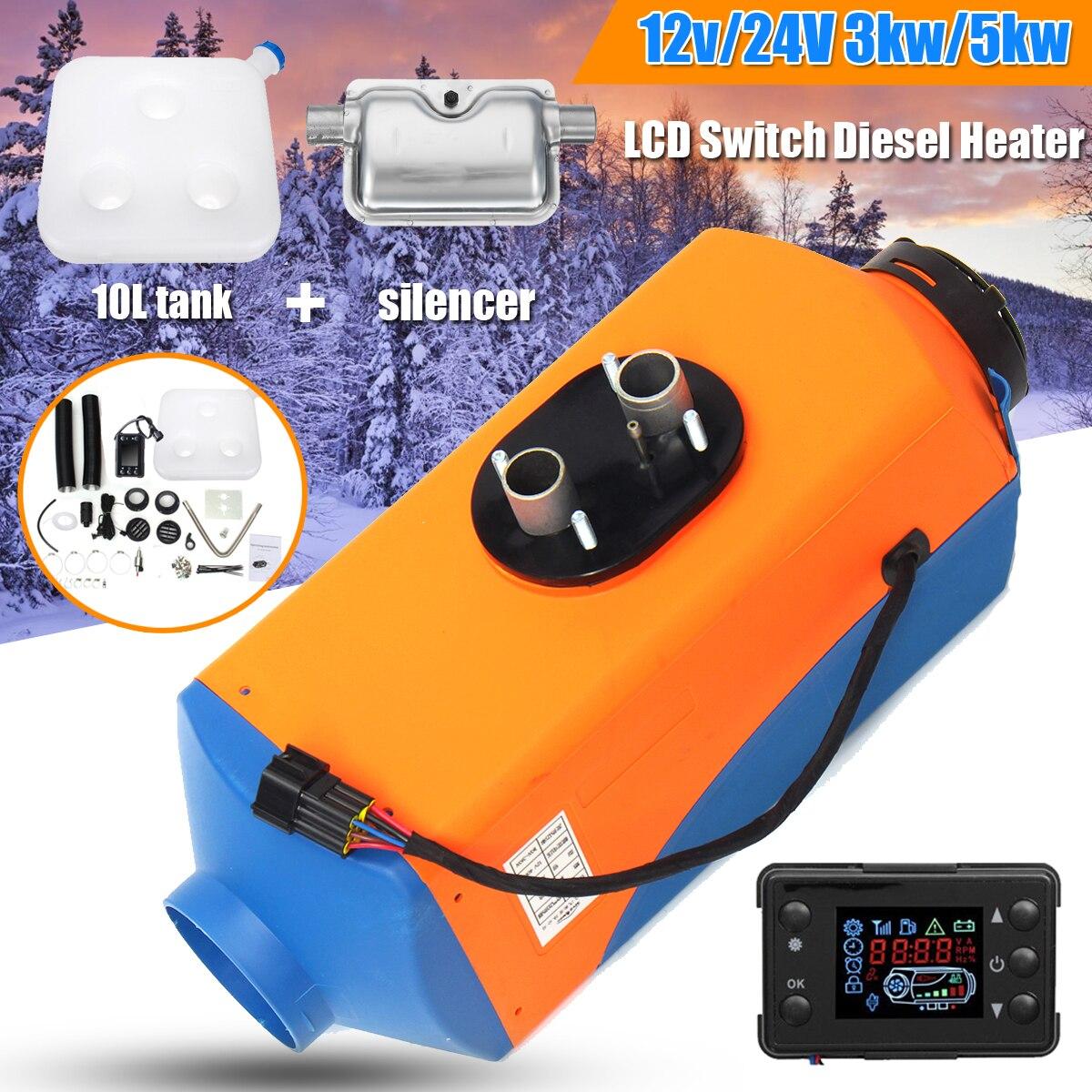 KROAK 12 V/24 V 3KW/5KW Diesels Air Parking voiture chauffage Diesels Air chauffage réservoir conduit d'aération Thermostat caravane moteur avec silencieux