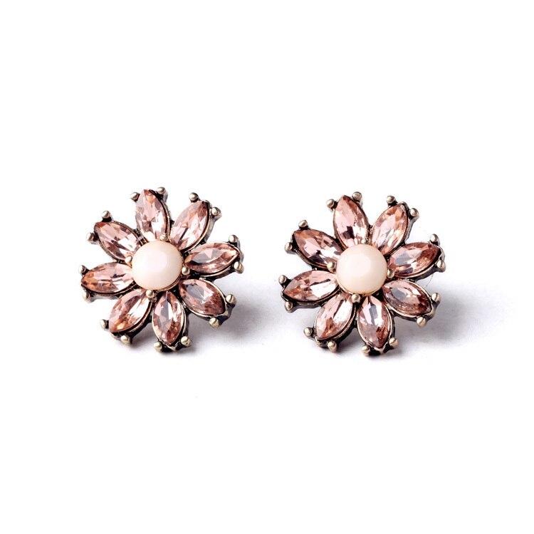 Aliexpress.com : Buy New Item Simple Crystal Flower Stud Earrings ...