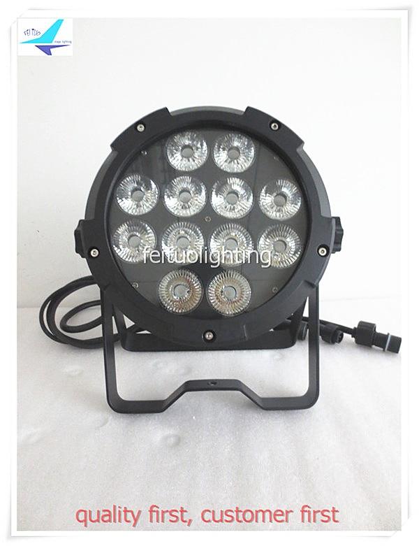 free shipping 2pcs/lot Waterproof 12x18W Led Stage Par Light RGBWA UV Par Can Wash Strobe DJ Uplighting IP65 Party Disco Lamp