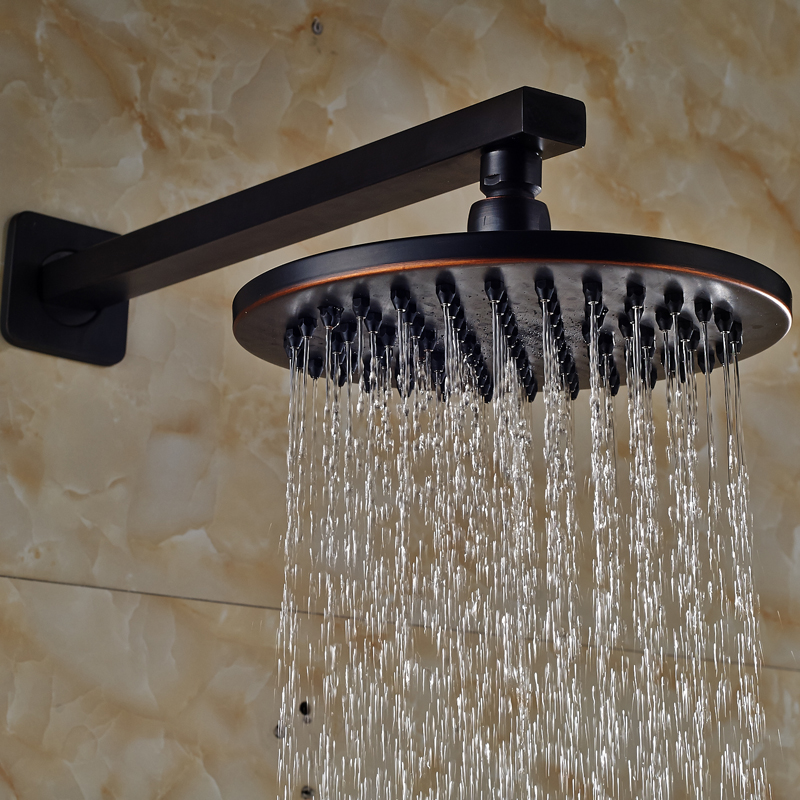 Free Shipping 8 Brass Bathroom Shower Head Wall Mount Rainfall Showerhead with Shower Arm holder