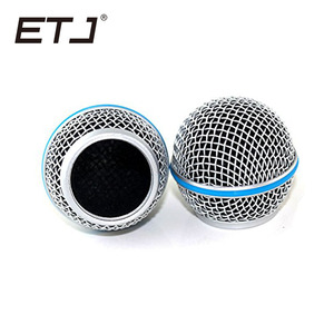 Image 5 - Freeshipping 6pcs/lot Professional Replacement Ball Head Mesh Microphone Grille Fits For shure sm 58 sm 58sk beta 58 beta58a