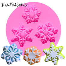 DANMIAONUO Snowflake Silicon Mold Fondant Cake Decorating Tools 3d Soap Molds Pastry Baking Form Silicone Jelly Pudding A102927 цена