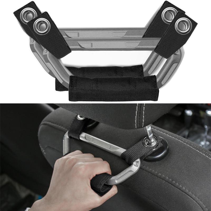 For Jeep Wrangler 2007-2018 Car Interior Metal + Oxford Fabric Seat Armrest Headrest Grab Handles