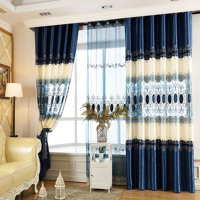 FYFUYOUFY Hot Sale European Style Hollow Out Water Soluble Embroidery Curtain  Living Room Bedroom Luxurious Court